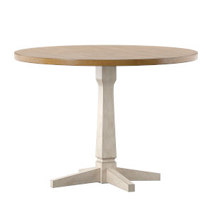Anna White Round Two-Tone Dining Table